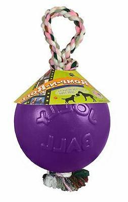 Jolly Pet Romp-n-Roll Ball Purple Dog Toy Kick Tug Float 4.5