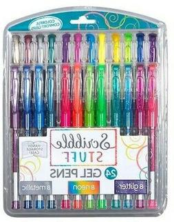 Rose Art - Scribble Stuff 24 Count Gel Pens Clamshell  Pen,
