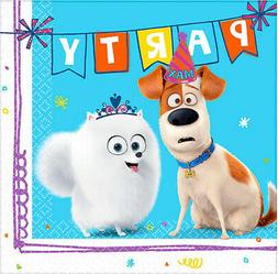 SECRET LIFE OF PETS 2 Birthday party supplies beverage PAPER