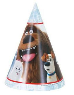 SECRET LIFE OF PETS Birthday party supplies PAPER CONE HATS
