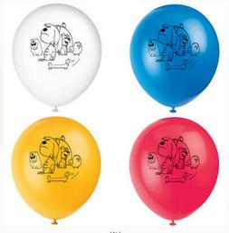 SECRET LIFE OF PETS Birthday party supplies LATEX BALLOONS D