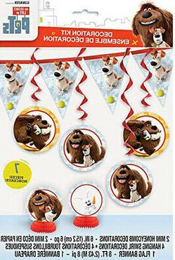 SECRET LIFE OF PETS Birthday party supplies 7 pc decoration