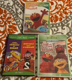 SESAME STREET DVD SET OF 3: READY FOR SCHOOL, BEST PET, LEAR