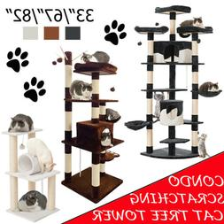 Cat Tree Tower Condo Bed Furniture Scratch Post Kitty Pet To