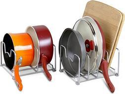 SimpleHouseware 2PK Kitchen Cabinet Pan And Pot Lid Organize