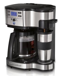 Single Serve Coffee Maker & Full 12 Cup Coffee Pot 2 Way Bre