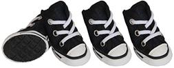 Extreme-Skater Canvas Casual Grip Pet Sneaker Shoes - Set Of
