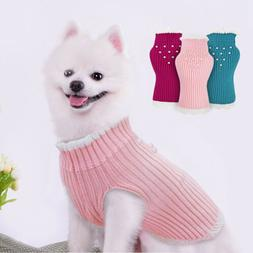Small Dog Knitted Sweater Elastic Knitwear Jumper Pet Puppy