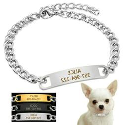 Custom Personalized Dog Chain Collar for Small Dogs Engraved