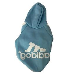 Adidog Small Dogs Puppy Apparel Blue Hoodie Sweater Warm T S