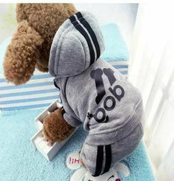 Adidog Small Dogs Puppy Apparel Hoodie Sweater Warm T Shirt