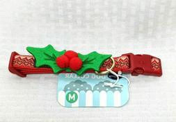 Blueberry Pet Small Festive Dog Collar Detachable Mistletoe