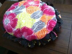 Small Floral Handmade Fleece Pet Bed