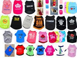 Various Pet Puppy Small Dog Cat Pet Clothes Dress Vest T Shi
