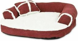 Aspen Pet Sofa Bed with Bonus Pillow 100% Polyester Fiber Co