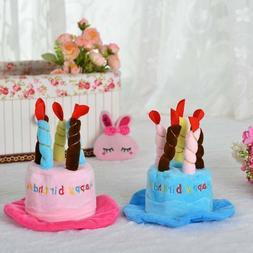 Soft Pet Birthday Hat Pet Headwear Cake Candles Design Hat f