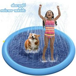 Splash Pad Sprinkler for Dogs Kids Inflatable Wading Pool Wa