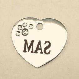 Stainless small Pet ID Tag, Personalized, for cats and small