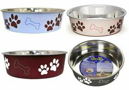 Dog Bowls Food Water Stainless Steel Cat Pet Feeding Dishes
