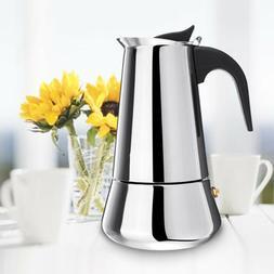 Stainless Steel Moka Espresso Coffee Pot Maker Percolator St