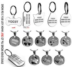 Stainless Steel Pet ID Tags Dog Cat Tags Personalized Front
