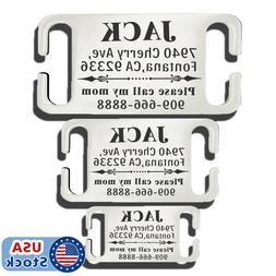 Stainless Steel Slide-On Pet ID Tags Dog Tags Personalized E