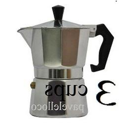 Stove Top Coffee Maker Espresso Cuban pot Cappuccino Latte 3