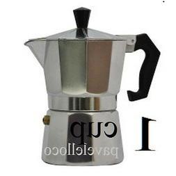 Stove top Espresso coffee Maker pot,cappuccino,latte 1 Cup