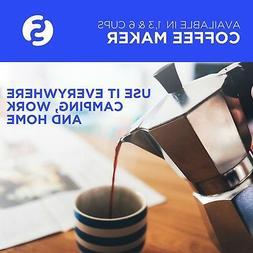 Stove Top Espresso Moka Pots Italian Coffee Maker, Cafetera