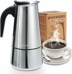 Stovetop Espresso Maker, Moka Pot, Godmorn Italian Coffee Ma