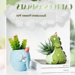 Succulent Cactus Pot Window Box for Plants Flowers with Drai