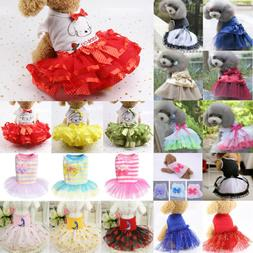 Summer Dog Bow Dress Pet Clothes for Small Dog Wedding Dress