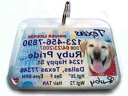 Texas vanity drivers license dog cat custom novelty pet tag