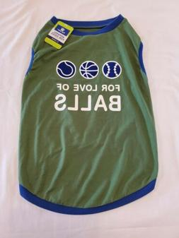 Top Paw For The Love Of Balls Sleeveless Green & Blue Dog Pe