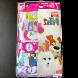 THE SECRET LIFE OF PETS 2 GIRLS 7 PACK PANTIES SIZE 4 UNDERW