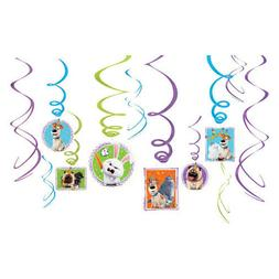 THE SECRET LIFE OF PETS 2 HANGING SWIRL DECORATIONS  ~Party
