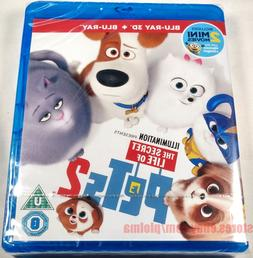 THE SECRET LIFE OF PETS 2 New 3D + 2D Blu-ray Movie Illumina
