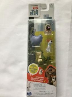 The Secret Life of Pets 4x Mini Figurines Mel Exclusive Anim