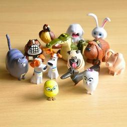 The Secret Life Of Pets Movie Toy 14 PCS Figures Cake Topper