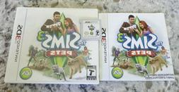 The Sims 3: Pets 3DS Nintendo - Complete In Box with Manual