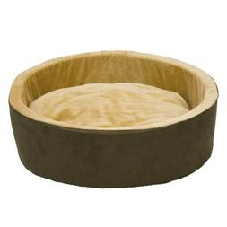 Thermo-Kitty Bed Color: Mocha, Size: Small , Heat Option: No