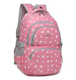 Top Girls School Bag Dog Paws Girl Large Backpack Travel Ruc