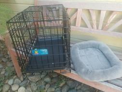 """Top Paw Pet Crate Double 22"""" Double Door Folding Metal Dog C"""