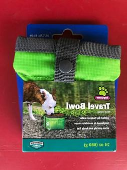 Top Paw -Travel Pet Food/Water Bowl for Dogs or Cats Neon Co