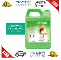 Tropiclean Dog Shampoo Papaya &amp Coconut Luxury 2-in-1 Con