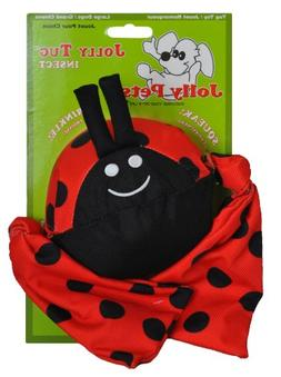 Jolly Pets Jolly Tug Lady Bug Tug/Squeak Toy, Medium