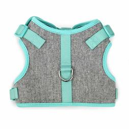 MARTHA STEWART Tweed Adjustable Mint Comfort Harness Pet Dog
