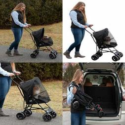Pet Gear Ultra Lite Travel Stroller Compact LARGE Wheels Lig