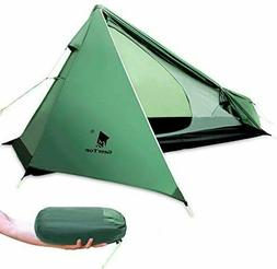 GEERTOP Ultralight 1 Person Backpacking Tent 3 Season Campin