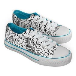 Jex Shoes Under The Sea Mermaid Colour-In Trainers Fabric Pe